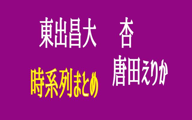 東出昌大 杏 唐田えりか 時系列