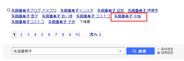 矢田亜希子 中指