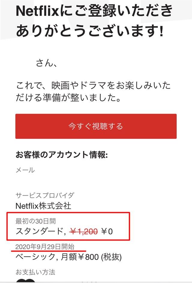 NETFLIX 無料体験 2020