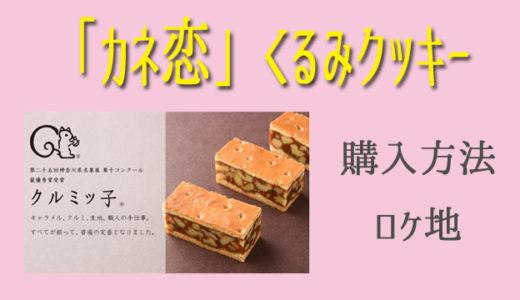 カネ恋1話のくるみクッキー(クルミっ子)の通販と店舗のロケ地まとめ!