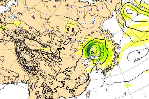 ヨーロッパ中期予報センター 台風10号 進路予想図 9月8日