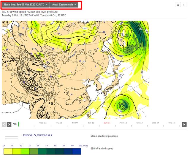 ヨーロッパ中期予報センター 台風 予想進路 見方