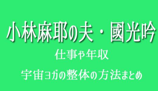 小林麻耶の旦那・國光吟の仕事と年収!整体もスピリチュアルな施術?
