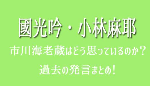 市川海老蔵は小林麻耶の夫・國光吟をどう思ってる?共演NGの噂も。