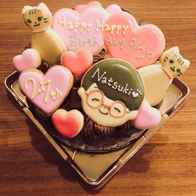 花江夏樹 嫁 ケーキ アイシングクッキー