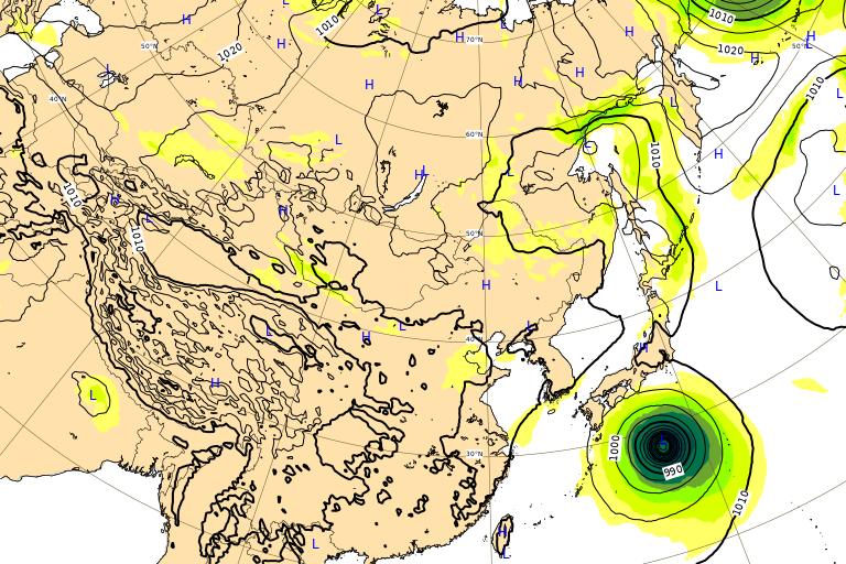 台風16号 ミンドゥル ヨーロッパ進路予想 2021年9月30日(木)