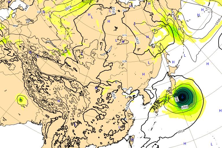 台風16号 ミンドゥル ヨーロッパ進路予想 2021年10月1日(金)